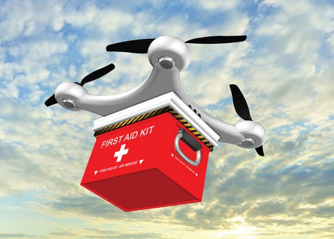 A Drone Delivers Life-Saving Medicine to an Isolated Patient (Thurs.)