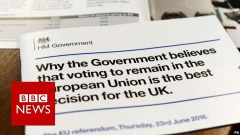 EU referendum: Fact-checking the government's leaflet – BBC News