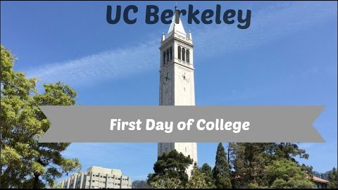 My First Day of Class at UC Berkeley- Vlog